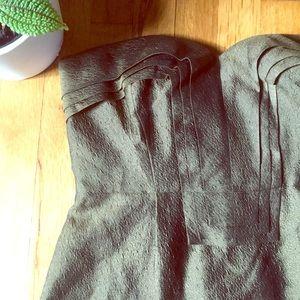 J. Crew Metallic Silk Strapless Dress